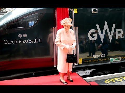 Queen recreates first train journey by British monarch