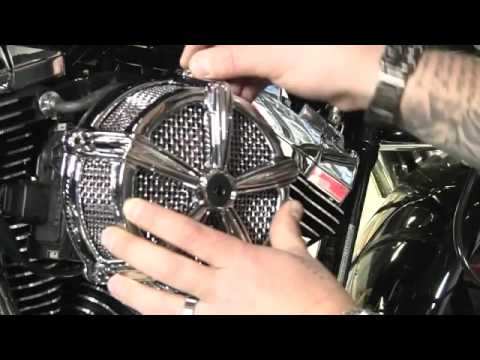 Kuryakyn Garage High Five Mach II Air Cleaner 2010 Harley Metric - video