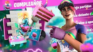 *DESAFIOS DE CUMPLEAÑOS FORTNITE* REGALOS GRATIS* SEGUNDO ANIVERSARIO* / Fortnite Battle Royale