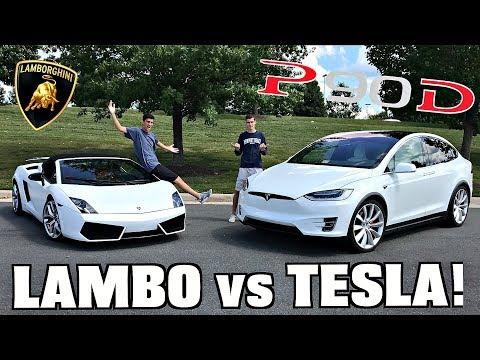 Tesla Model X P90D Vs. Lamborghini Drag RACE! (Shocking Results)