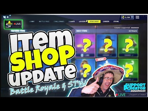 💥menamescho's-live-🔵-item-shop-update-♻-countdown-🕛-fortnite-battle-royale---thu-14th-nov-19