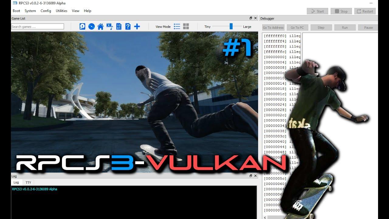 [Outdated!]-PS3 Emulator-RPCS3-LLVM-Vulkan || Skate 3-Demo #1 || WIP