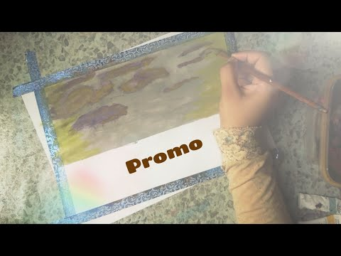 Promo !! how to paint clouds with a sponge? Sunrise landscape painting with arcylic for beginners