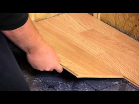 How to Install Engineered Click-Lock Flooring : Flooring Tips