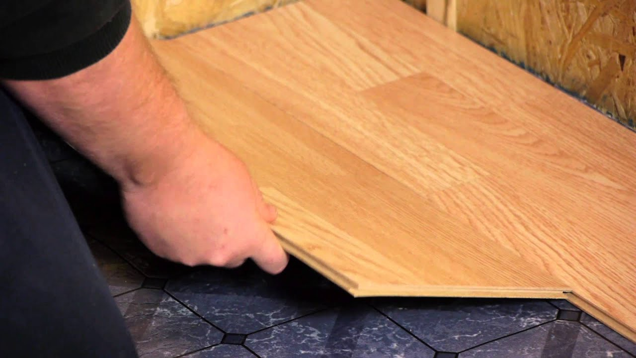 How to install engineered click lock flooring flooring tips youtube solutioingenieria Image collections