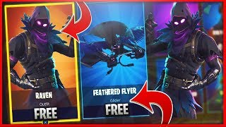 "Nouvelle tenue ""RAVEN"" - ""FEATHERED FLYER"" Gratuit à Fortnite Battle Royale!! Nouveau skins GRATUIT à Fortnite!!"