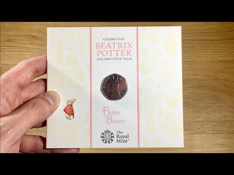FLOPSY BUNNY 2018 50p COIN || UNPACKAGING / UNBOXING (BEATRIX POTTER - ROYAL MINT) VIDEO