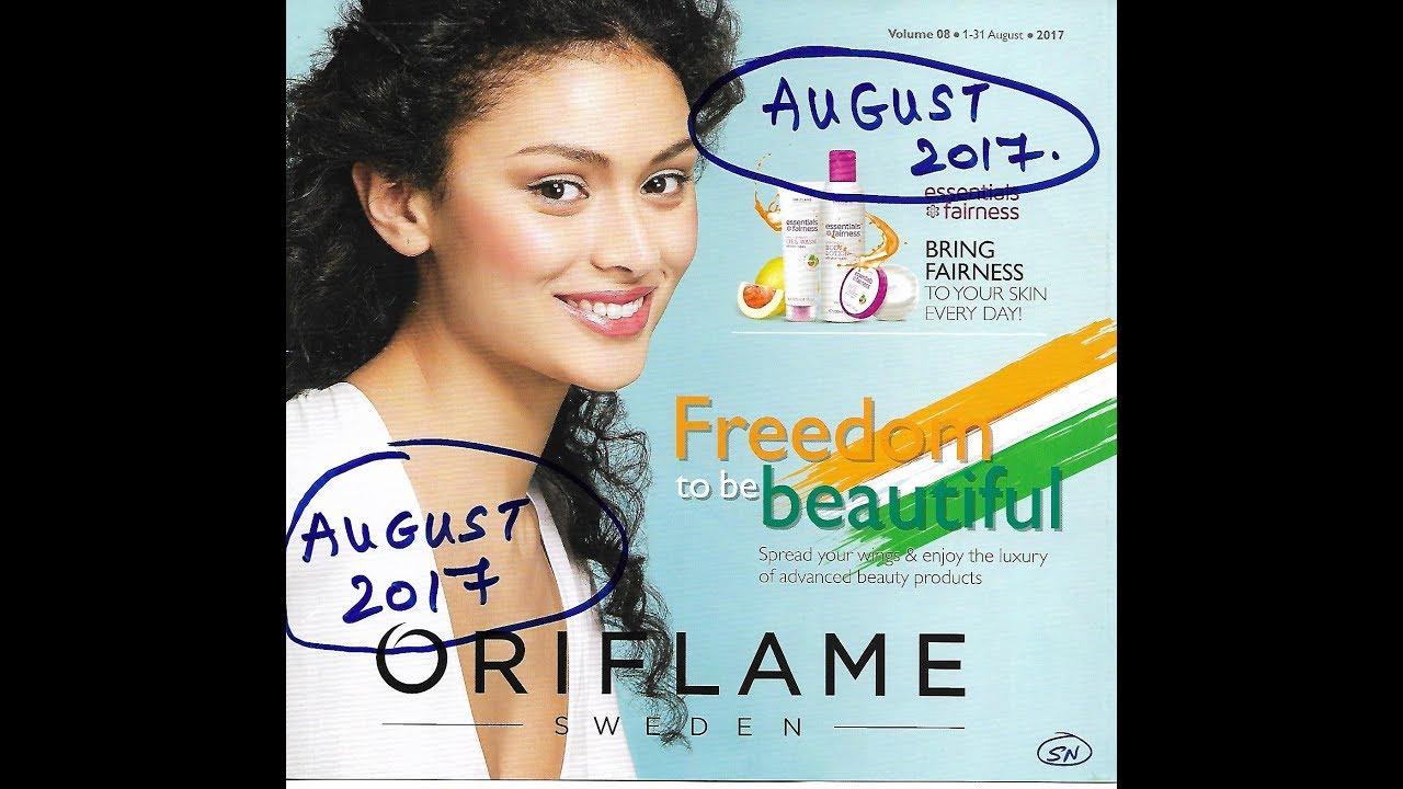 catalogue oriflame août 2017