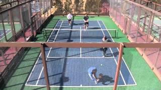 Platform Tennis Action