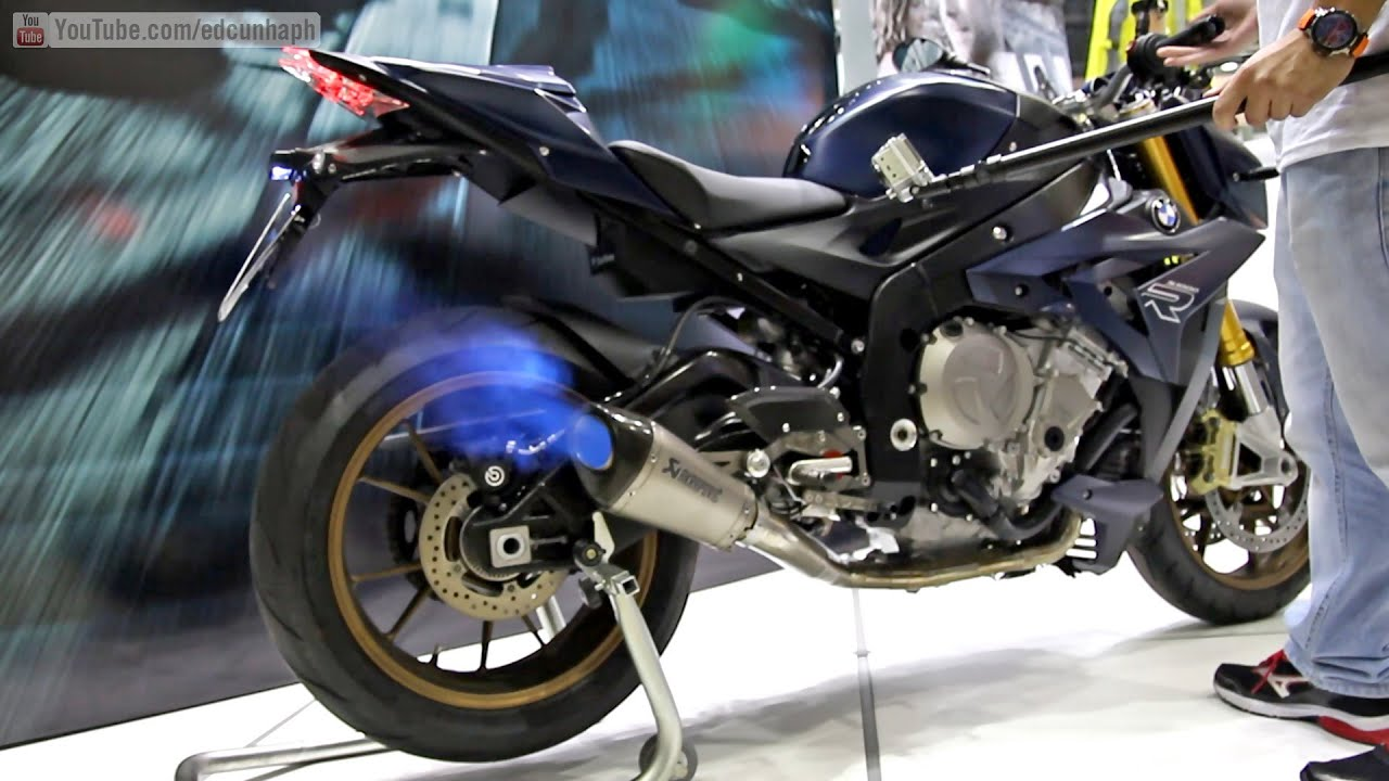 bmw s1000r akrapovic full exhaust sound and backfire. Black Bedroom Furniture Sets. Home Design Ideas