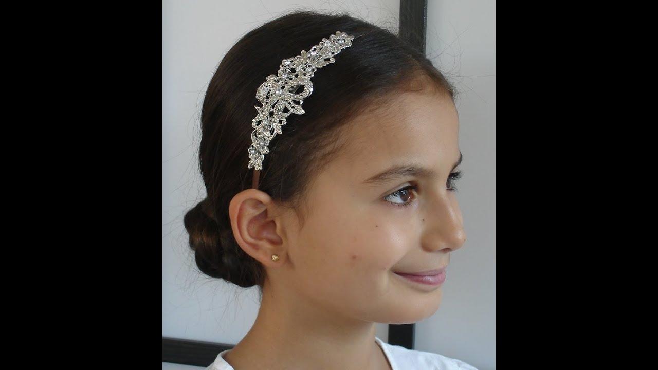 Fabuloso peinados para comuniones Fotos de cortes de pelo estilo - Peinados de niñas para comuniones, ceremonias y ...