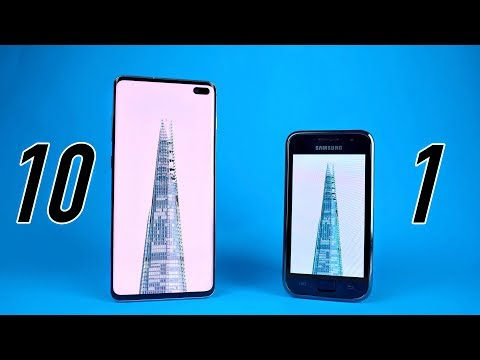 Samsung Galaxy S10 vs Galaxy S1 - 10 YEARS LATER Comparison!
