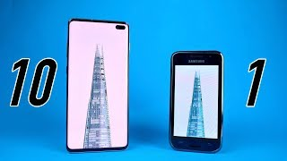 Samsung Galaxy S10 vs Galaxy S1 - 10 YEARS LATER Comparison! Video