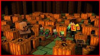 Minecraft Lets Play → 06: Хэллоуинские будни, адская печь в майнкрафт без модов