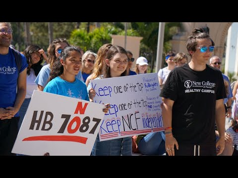 Students rally against proposed New College of Florida merger