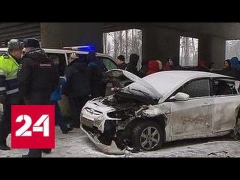 Массовое ДТП на Минском шоссе: машины разбиты в щепки