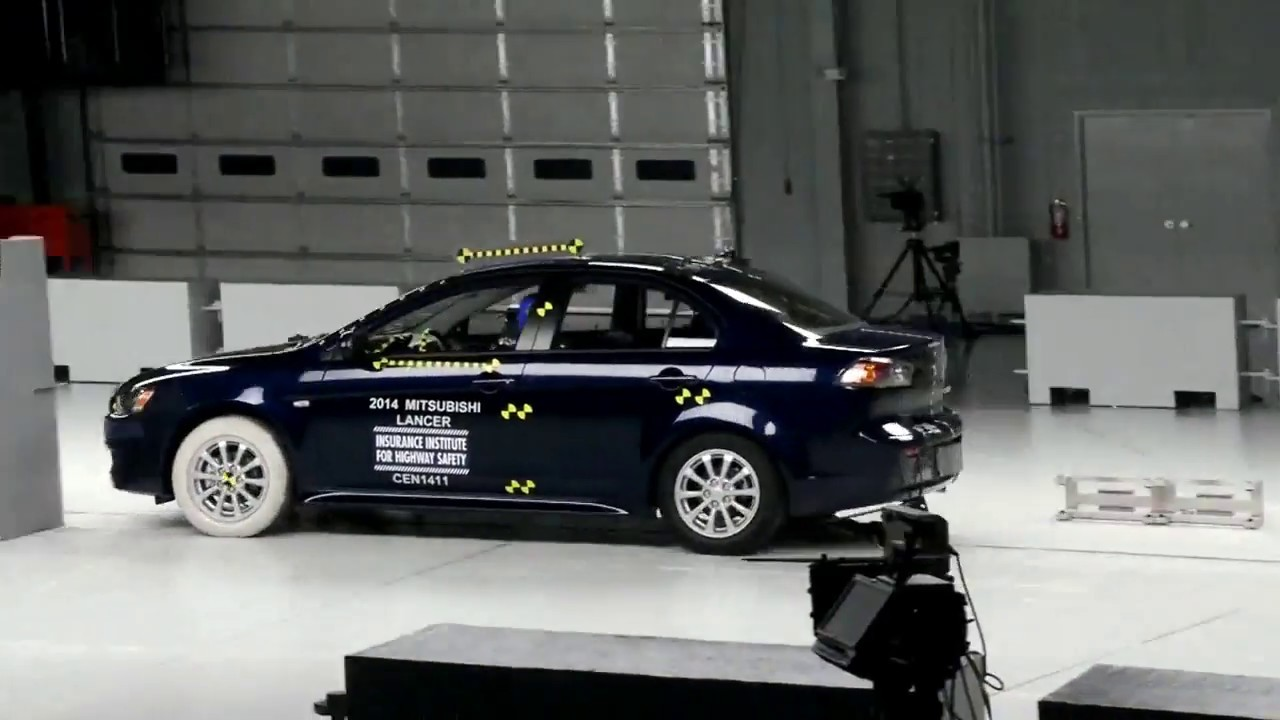 361. Mitsubishi Evo X small overlap crash test