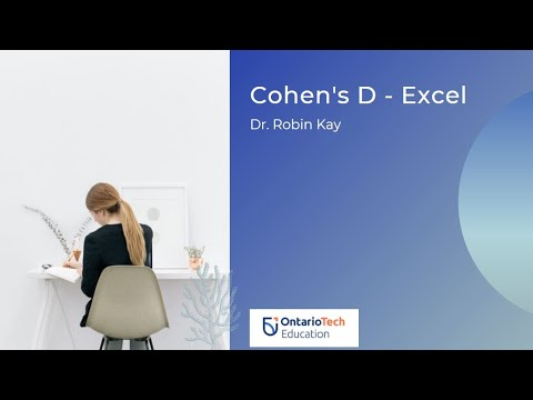 calcuating cohen 39 s d in excel youtube. Black Bedroom Furniture Sets. Home Design Ideas