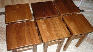 Табурет своими руками. DIY wooden stool(Табурет своими руками. DIY wooden stool., 2016-08-06T21:35:50.000Z)