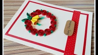 DIY Paper Quilling -Christmas Card - Easy & Simple  Christmas design 06