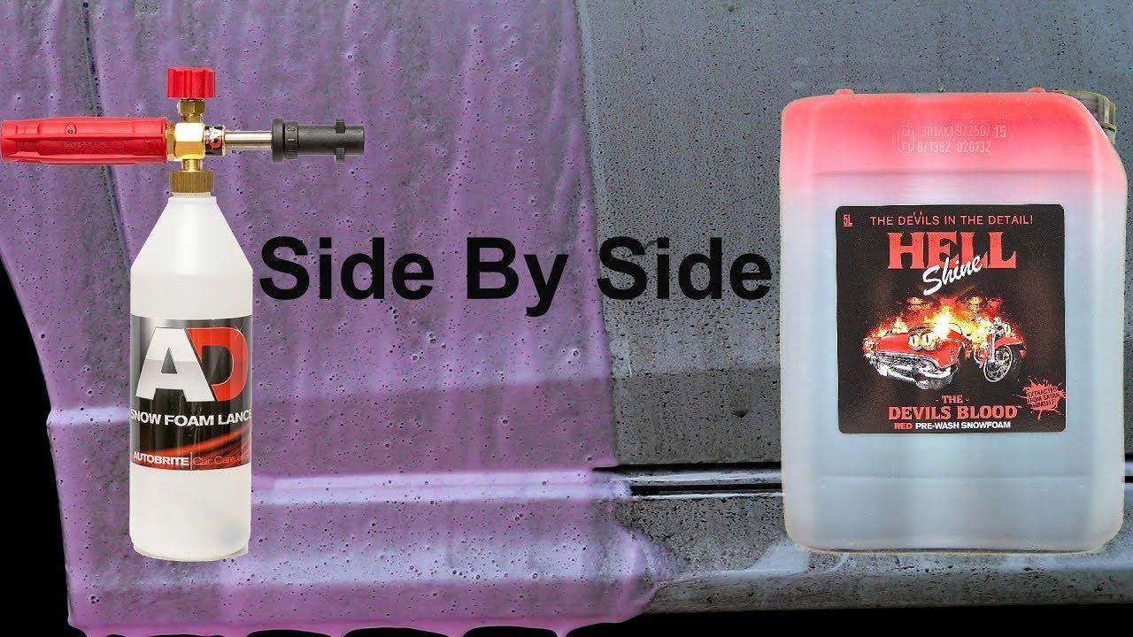 snow foam test autobrite devil 39 s blood youtube. Black Bedroom Furniture Sets. Home Design Ideas