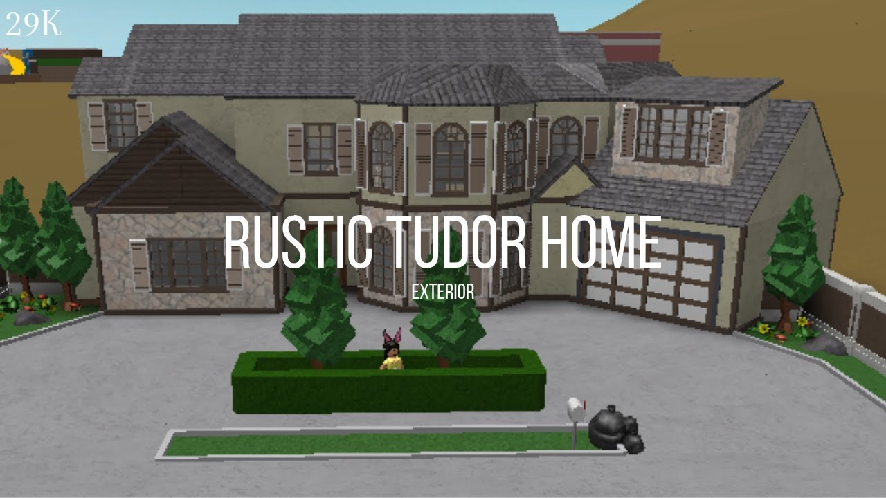 Bloxburg: Rustic Tudor Home 29K~exterior only - YouTube