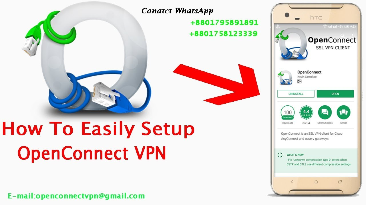 How to easily setup OpenConnect vpn ( English )