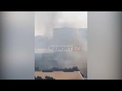 Report TV -Zjarr Në Një Banesë Në 'Rrugën E Burgut' Në Kryeqytet