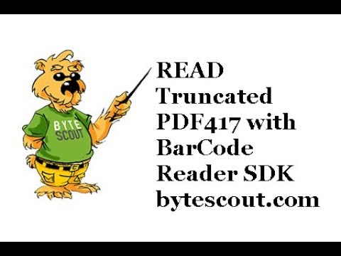 Read Truncated PDF417 With ByteScout BarCode Reader SDK
