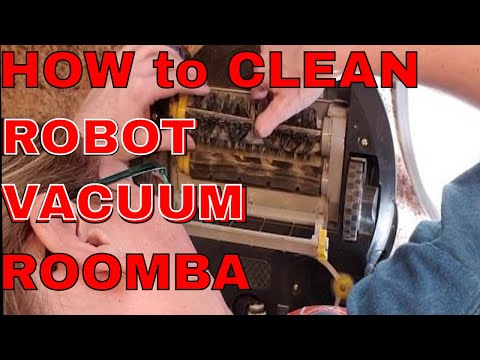 How to clean a vacuum | Roomba | How to clean robot vacuum | Easy | Clean Long hair from vacuum