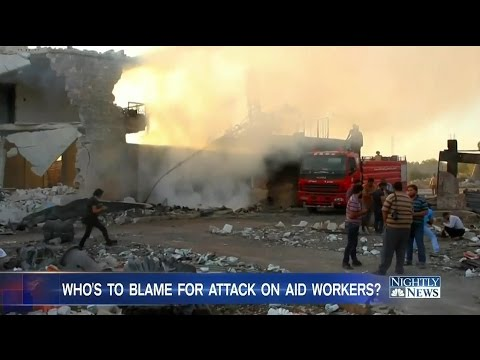 UN Suspends Syria aid after deadly convoy Attack in Aleppo Syria kills 20