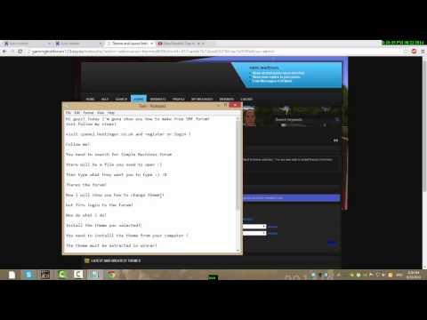 Tutorial how to make a free forum :)