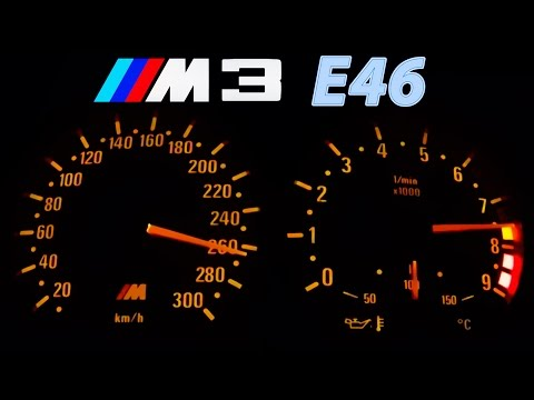 BMW M3 E46 Acceleration 0-270 Onboard + Burnout + Sound Beschleunigung Exhaust