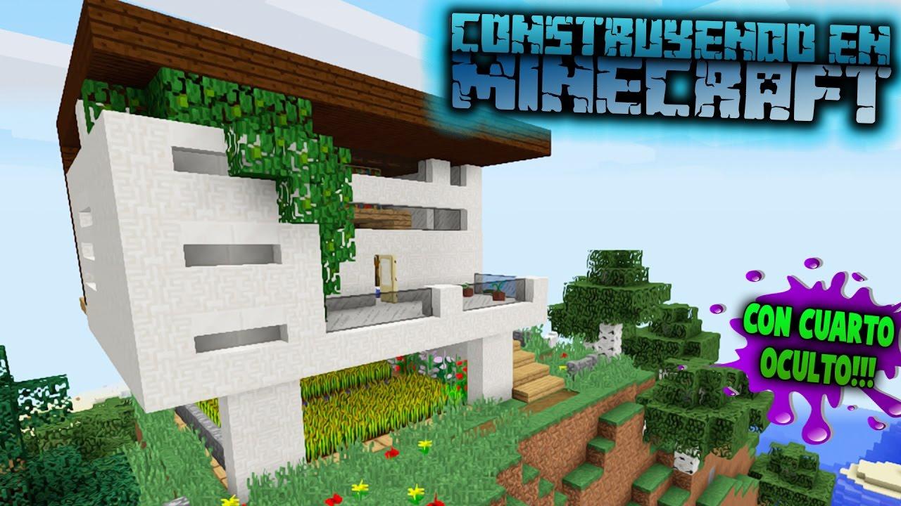 Como hacer una casa moderna en minecraft para survival for Casas modernas minecraft keralis
