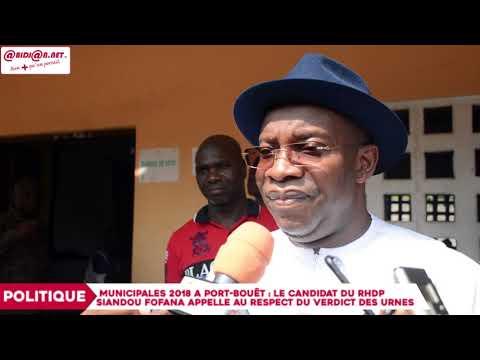 Port-Bouët : Le candidat du RHDP Siandou Fofana appelle au respect du verdict des urnes
