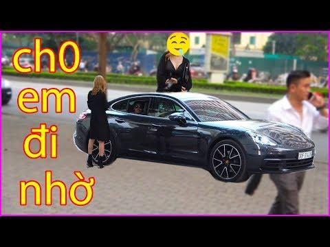 Trời nắng chủ tịch vác siêu xe Porsche đi cua gái và cái kết bất ngờ - Use Porsche Pickup line