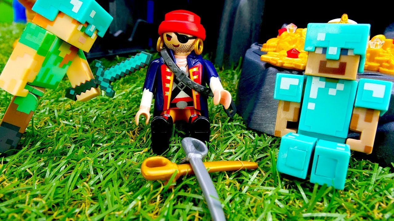 Игры для мальчиков - Стив Майнкрафт и пираты! - Лего ...