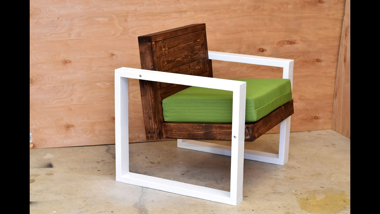 Modern outdoor chair diy build youtube for Armchair builder