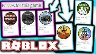 Jailbreakdeki Tüm Gamepassleri Aldım!/Roblox Jailbreak/Kıvırcık Gamer
