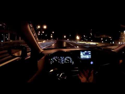 Lexus ES - болтовня в ночном движении (60p)