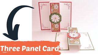 Faltkarte mit Trick--Three Panel Card--Anleitung-DIY-Papierbasteln