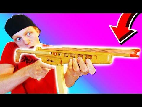 WORLDS CRAZIEST RUBBER BAND MACHINE GUN!