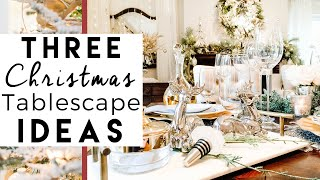 3 Christmas Table Settings and Decorating Ideas 11th Day of Christmas 2015!