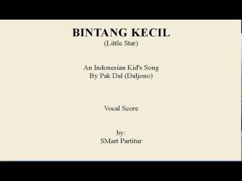 Notasi Lagu | BINTANG KECIL – Lagu  Anak Indonesia