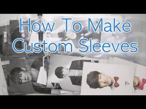How To Make Custom Photocard Sleeves