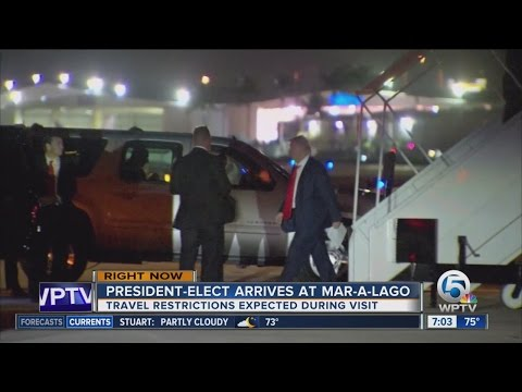 President-elect Trump visits Mar-A-Lago for the weekend