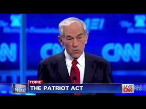 Patriot Act Debate: Ron Paul vs. Gingrich
