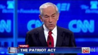 Patriot Act Debate: Ron Paul vs. Gingrich