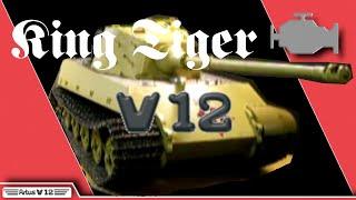 RC King Tiger Tank with ARTUS-V12 engine
