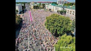 Приблизно 100 тисяч людей зібрались на масштабний марш у Мінську